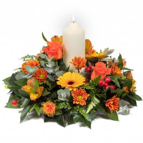 Warm Glow Table Arrangement