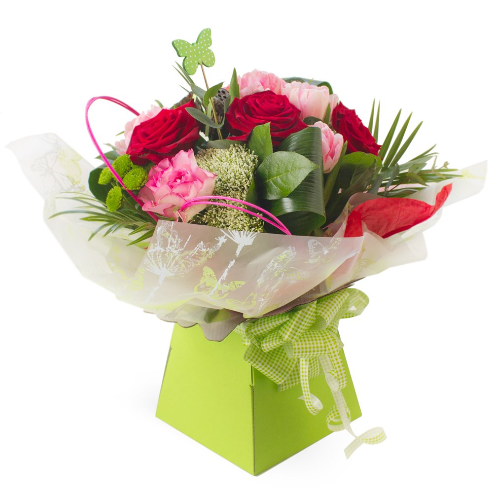 Butterflies & Roses - Hand Tied Aqua Pack