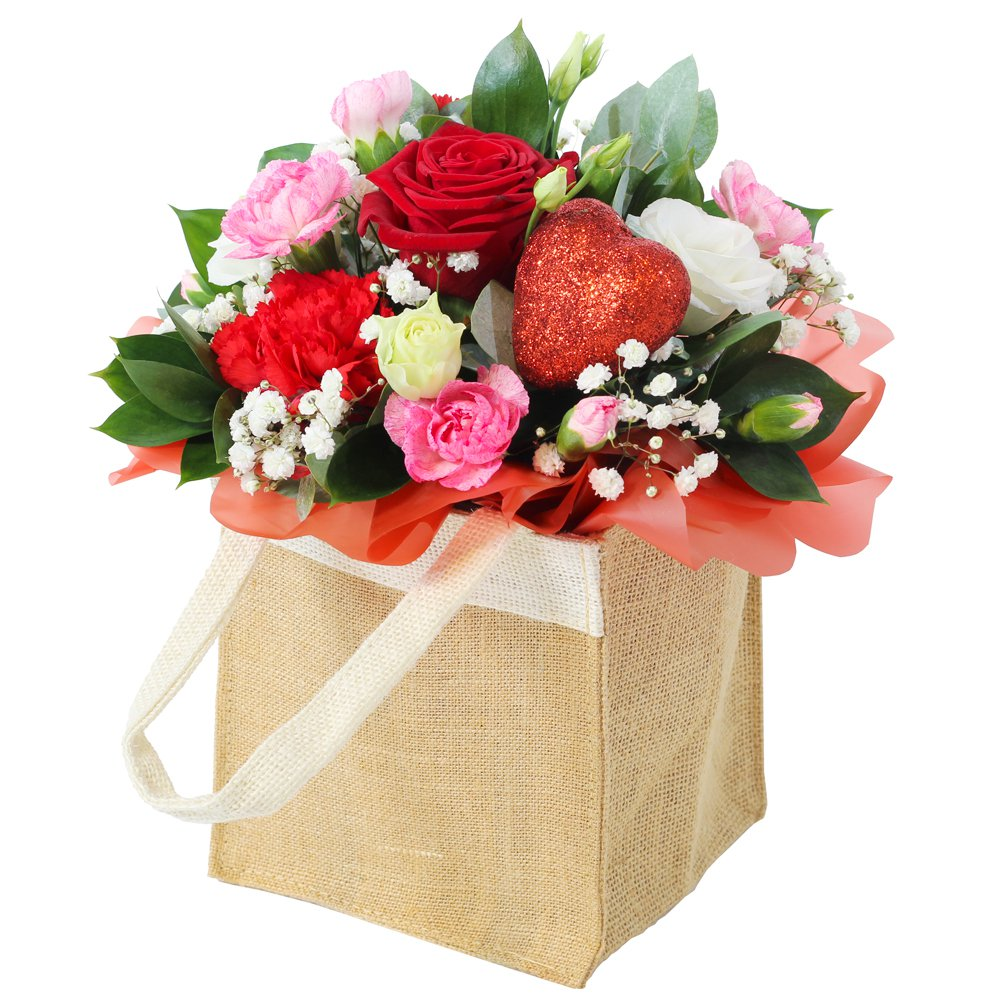 Hearts and Flowers - Bag Arrangement