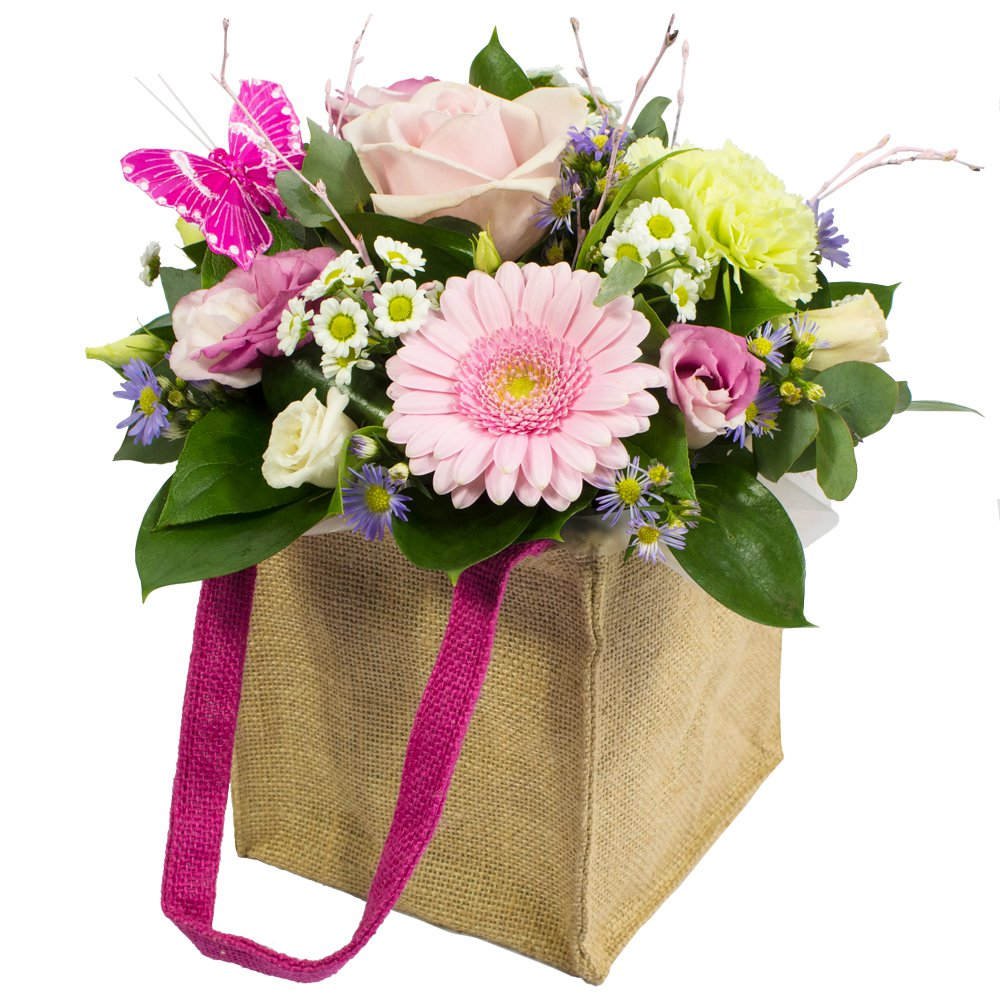 Hugs and Kisses - Arrangement in a bag.