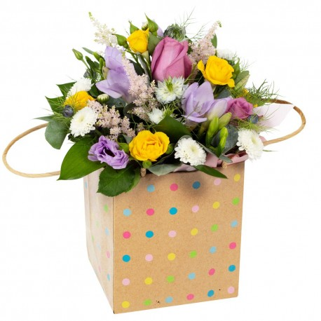 Hunky-Dory Arrangement presented in a gift bag