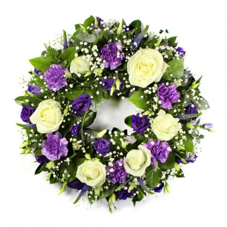 Wreath - Purple and White