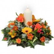 Warm Glow Table Arrangement